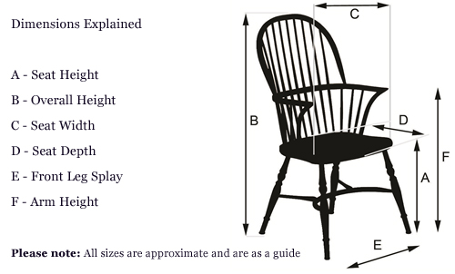 Windsor chair dimensions