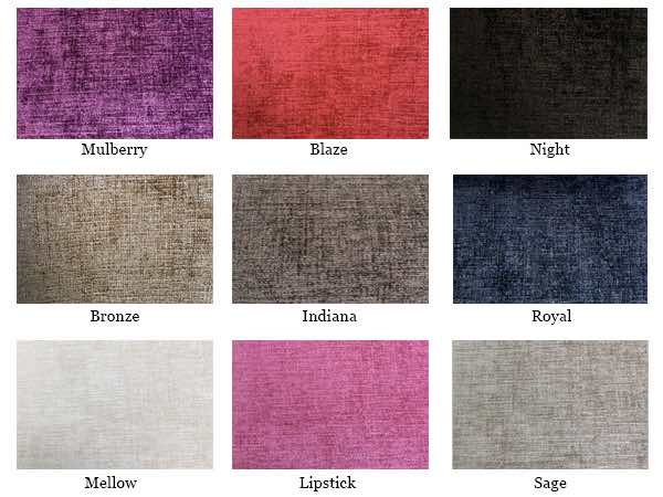 Dining Chair Seat Fabric Plain Colours