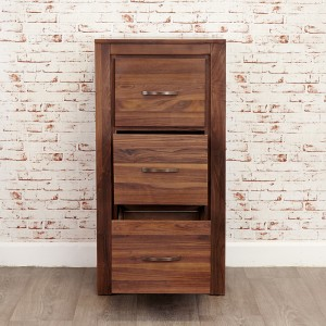 3 Drawer Walnut Filing Cabinet