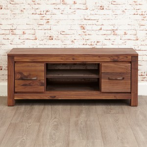 Low Walnut Television Cabinet