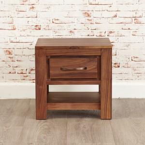 1 Drawer Walnut Lamp Table