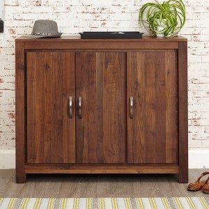Extra Large Walnut Large Shoe Cupboard