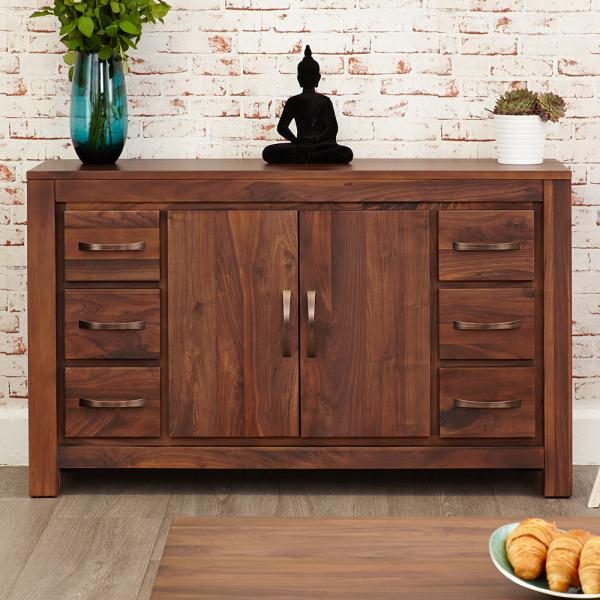 6 Drawer Walnut Sideboard
