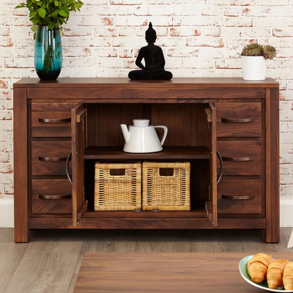 6 Drawer Walnut Sideboard