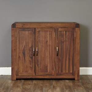 Walnut Extra Large Shoe Cupboard