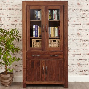 Large Glazed Bookcase