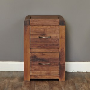Walnut 2 Drawer Filing Cabinet