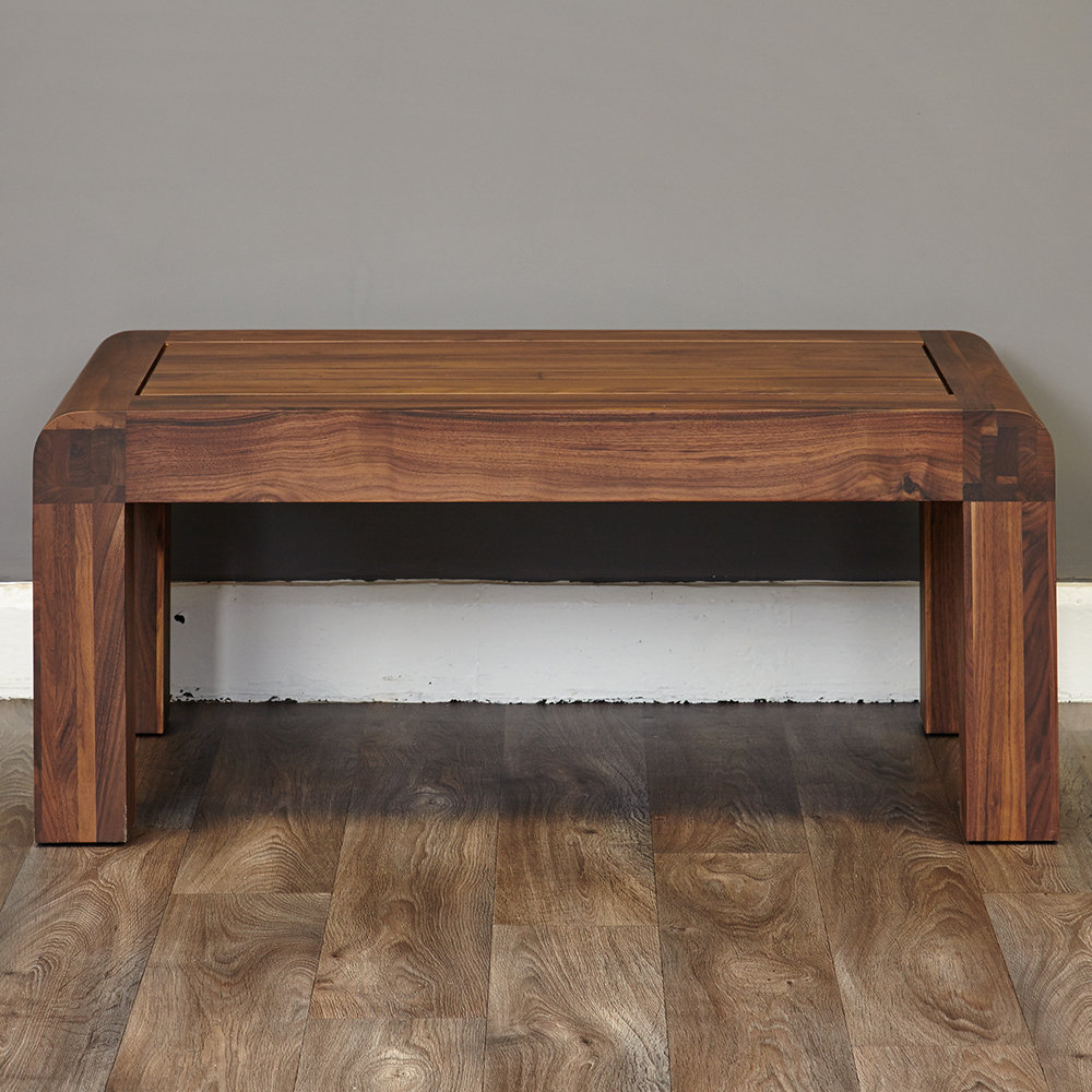 Inadam Furniture 110cm Open Coffee Table Retro Solid Walnut Collection