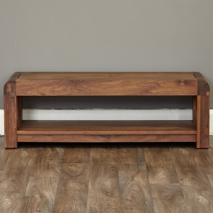 130 Cm Walnut Low Tv Cabinet