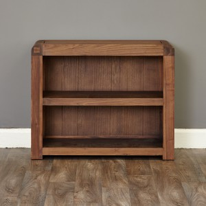 100 cm Walnut Low Bookcase