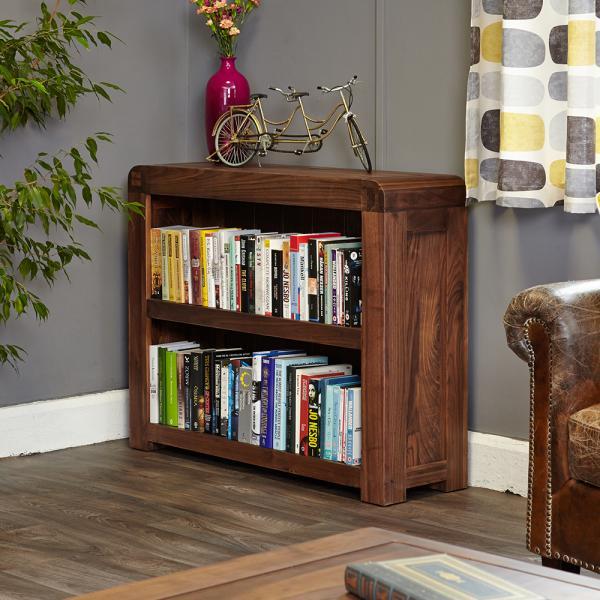 100 cm Walnut Low Bookcase