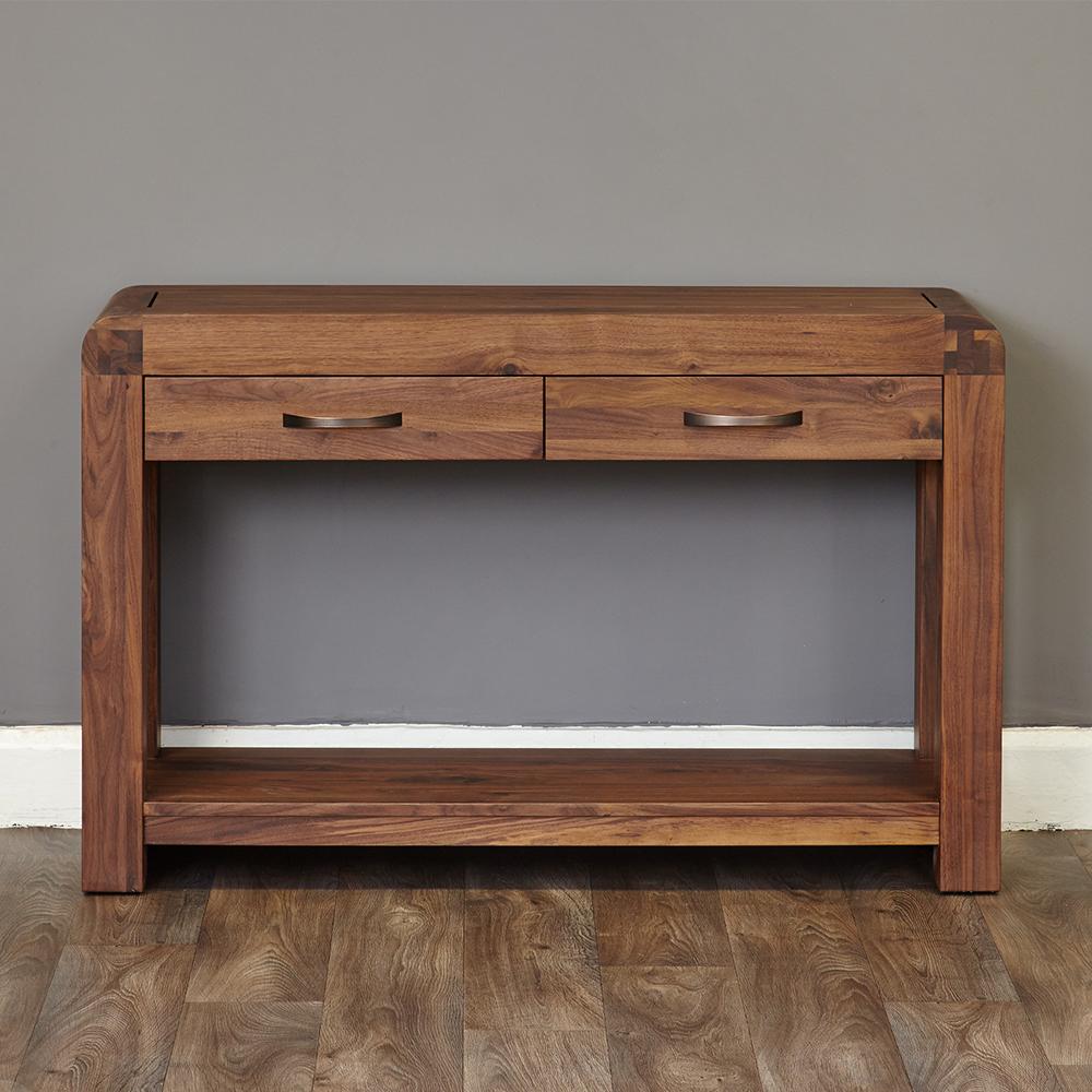 Inadam furniture 120cm console table retro solid walnut collection Retro sofa table