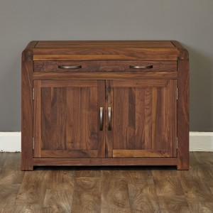 Walnut Hidden Home Office Unit