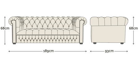 Inadam Furniture Arthur Chesterfield Sofa Collection Chair 2