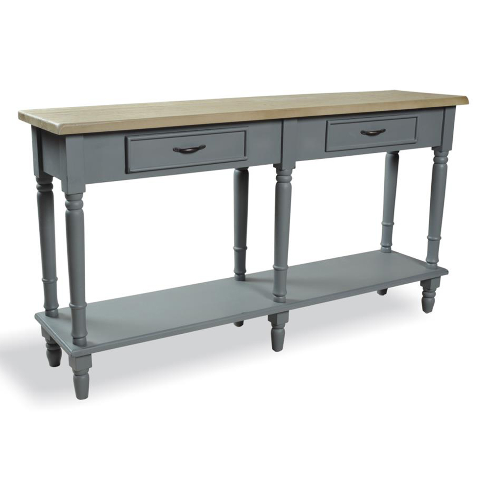 Charmant Inadam Furniture   2 Drawer Console Table   Chic Dark Grey Painted Furniture    Inadam Furniture