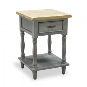 Tall Side Table with 1 Drawer