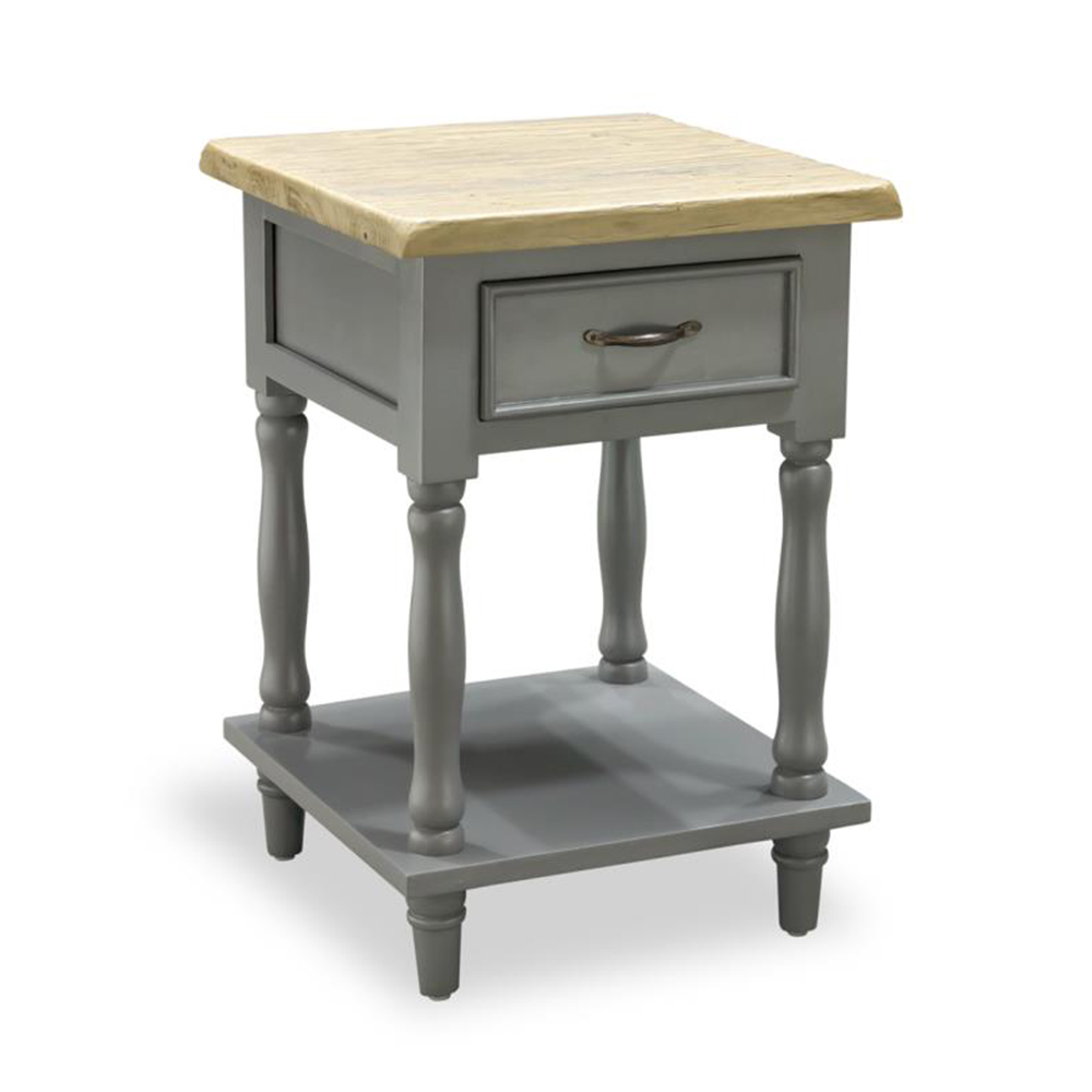 Inadam furniture tall side table with 1 drawer chic for Dark grey furniture paint