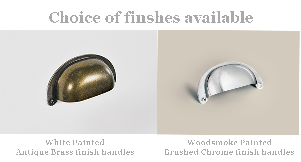 White or Woodsmoke Painted finish