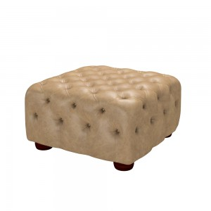Chesterfield Cube Stool