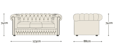 Clarence Chesterfield Sofa Chair