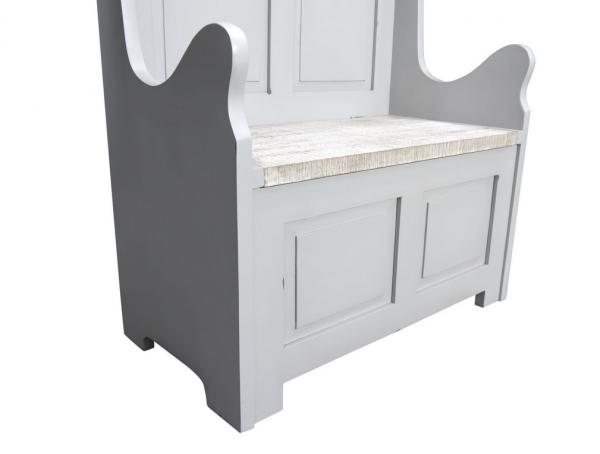 2 Seater Monks Bench High Back