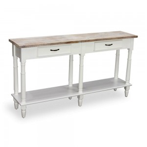 2 Drawer Console Table with Shelf