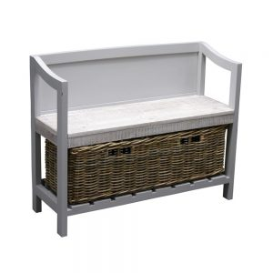 Storage Bench With Basket