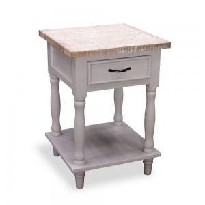 Tall Side Table 1 Drawer & Shelf