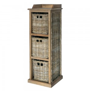 Tall Storage Unit 3 Baskets