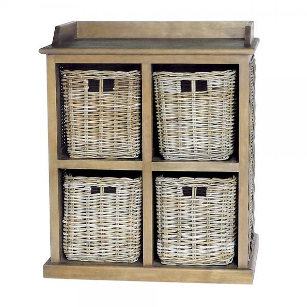 Large Storage Unit 2 over 2 baskets