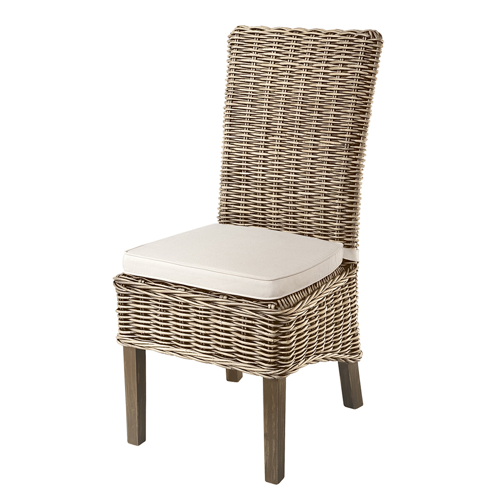 High Back Rattan Chair