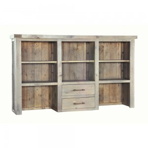 Large 3 Drawer Sideboard Top Bookcase