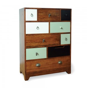 10 Mixed Drawer Tall Chest