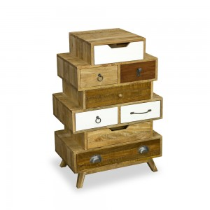 8 Drawer Staggered Chest - Neutral