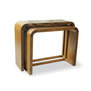 Set of 2 Consule Tables- Mango Wood