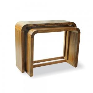 Set of 2 Consule Tables- Mango Wood