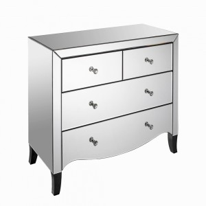2 + 2 Drawer Chest Mirrored