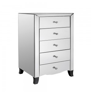 5 Drawer Chest Mirrored Collection