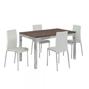 Retro deco dining set with 4 chairs