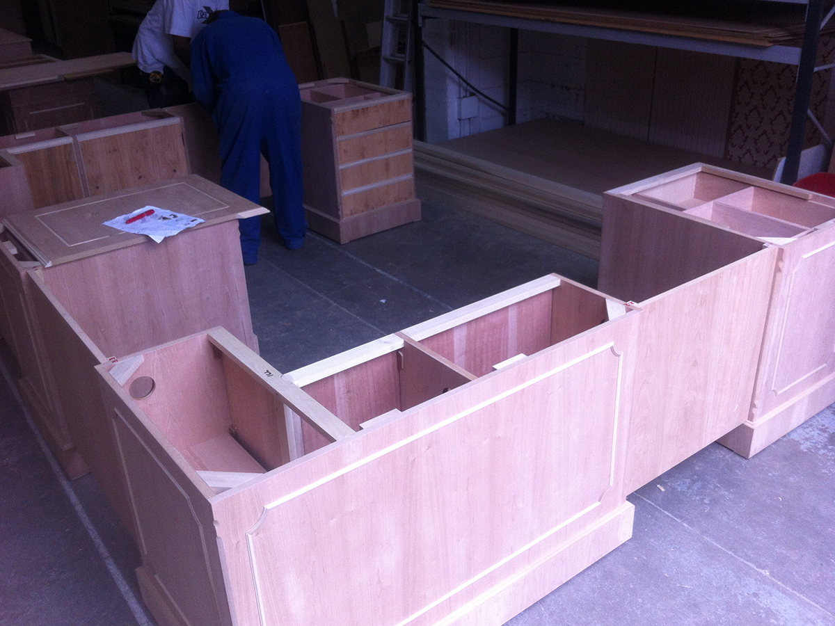 Making of bespoke Yew Desk