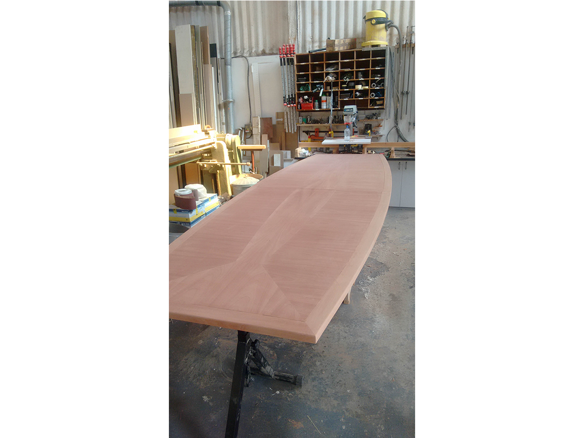 Bespoke conference table top