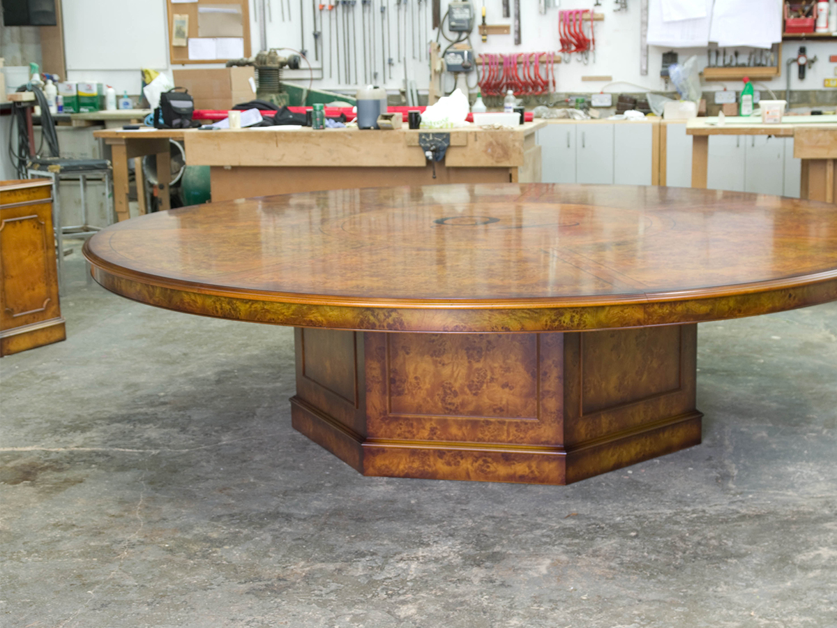 Handmade poplar conference table