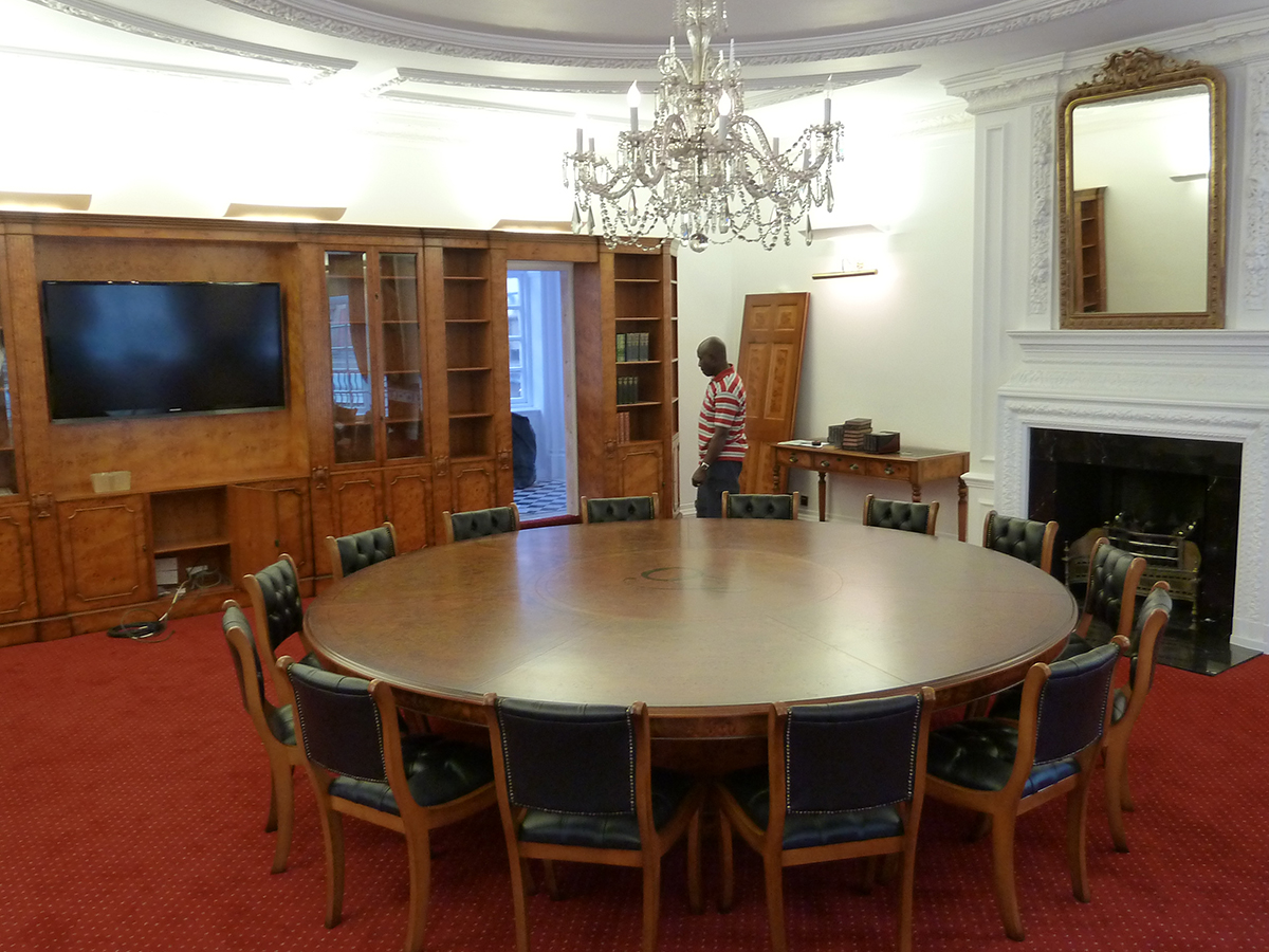Installation of conference table