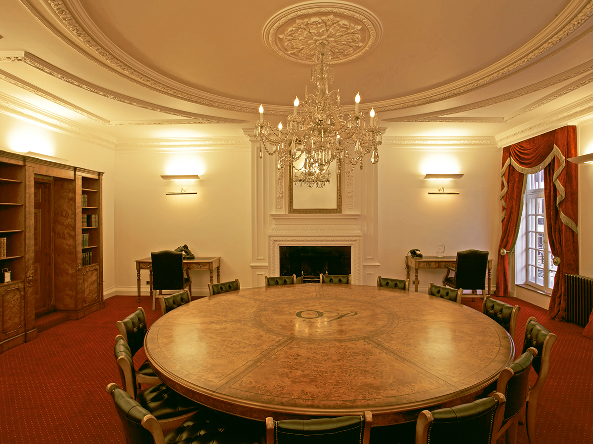 Bespoke conference table handmade in England