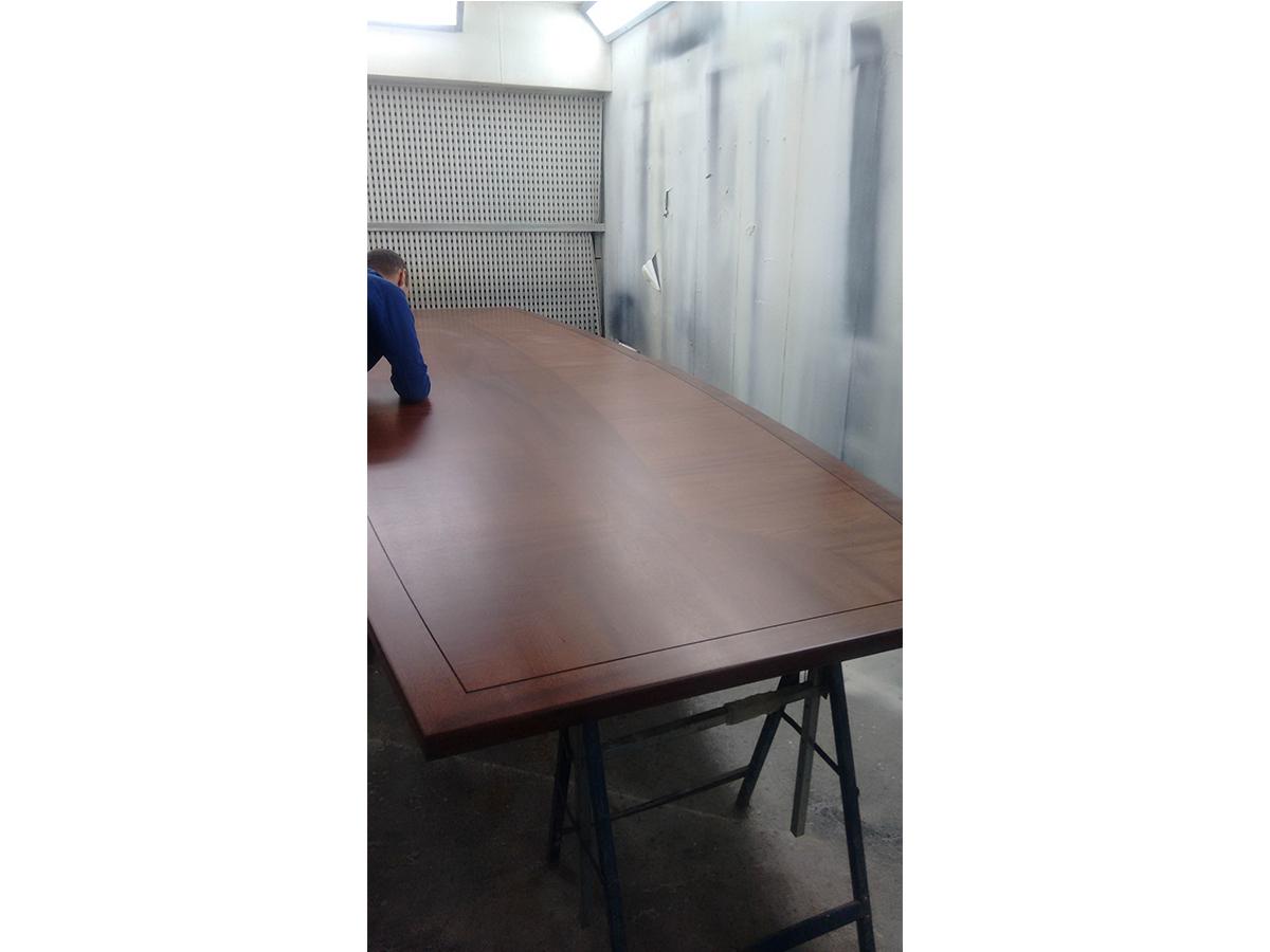 Polishing conference table