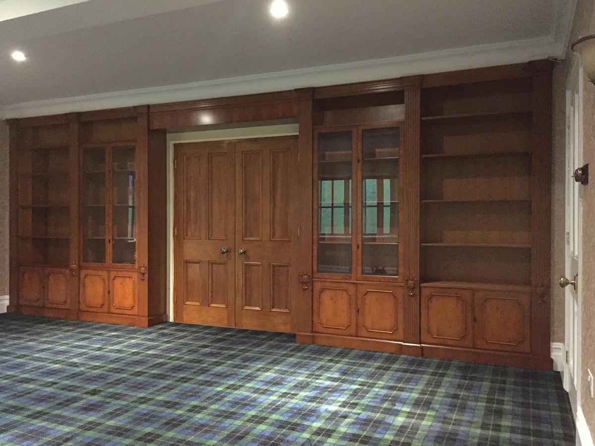 Bespoke Yew Modular Bookcases