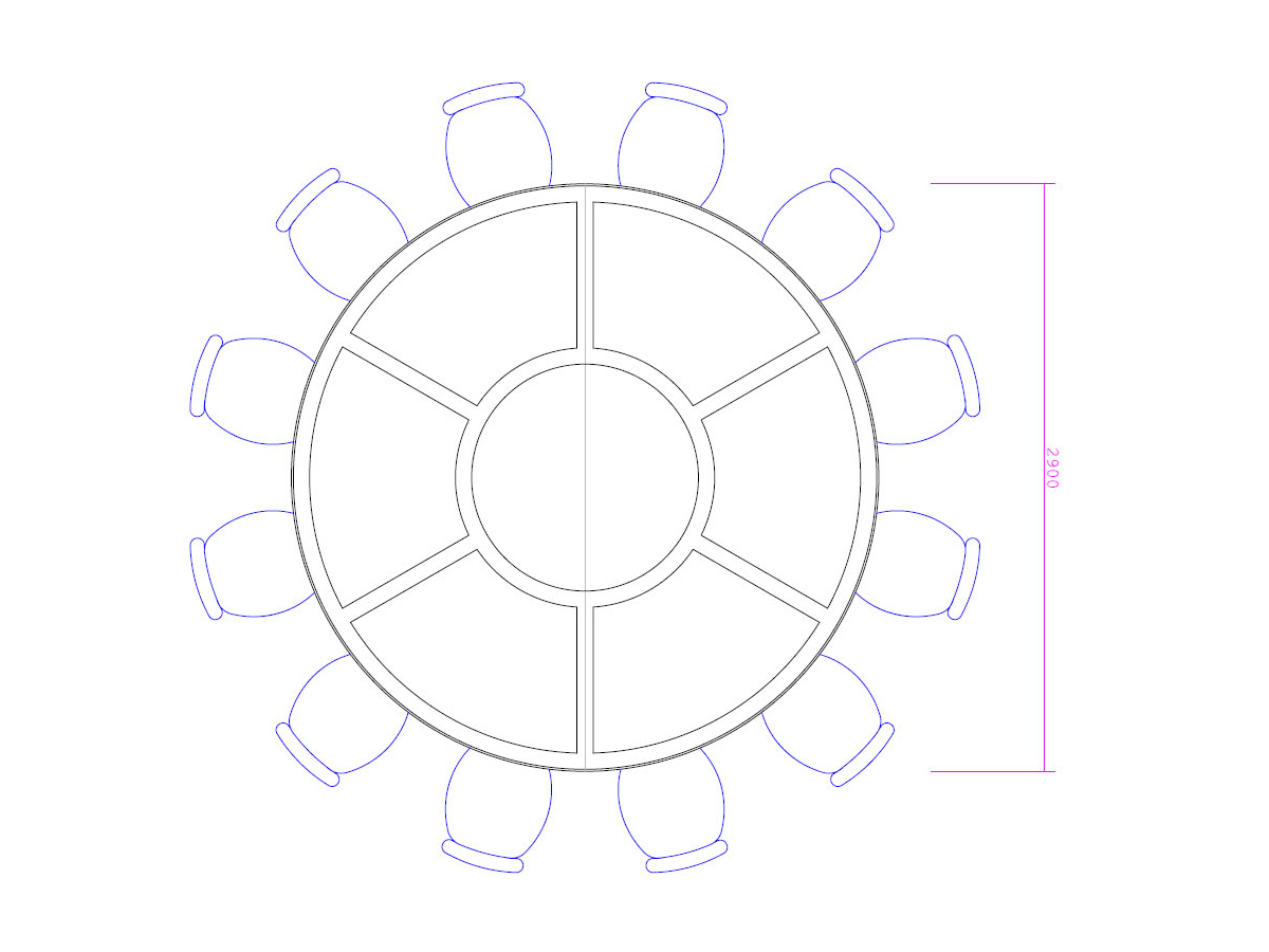 CAD design for bespoke conference table