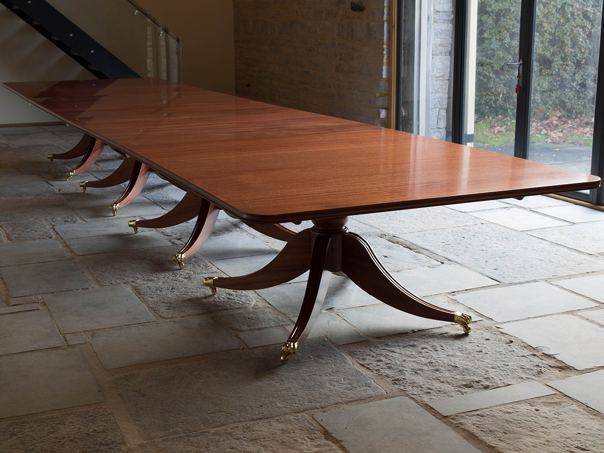 Bespoke handmade solid mahogany dining table