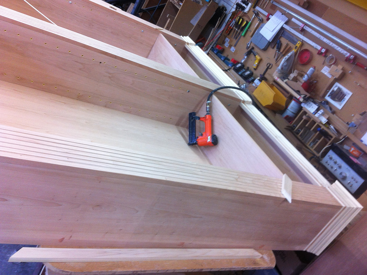 Making of Yew Bookcase