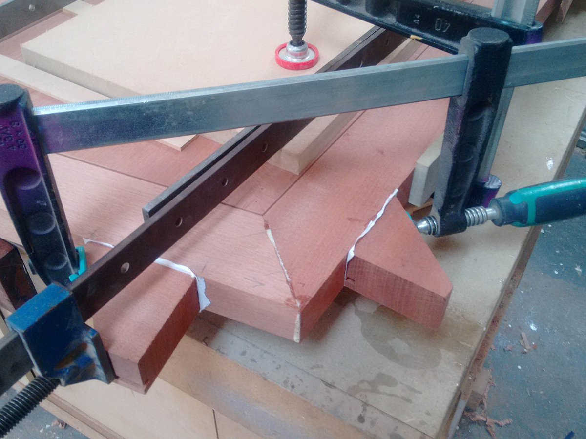 Joinery on conference table